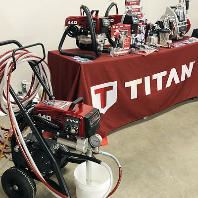 Titan painting equipment booth at Painters Pro Show