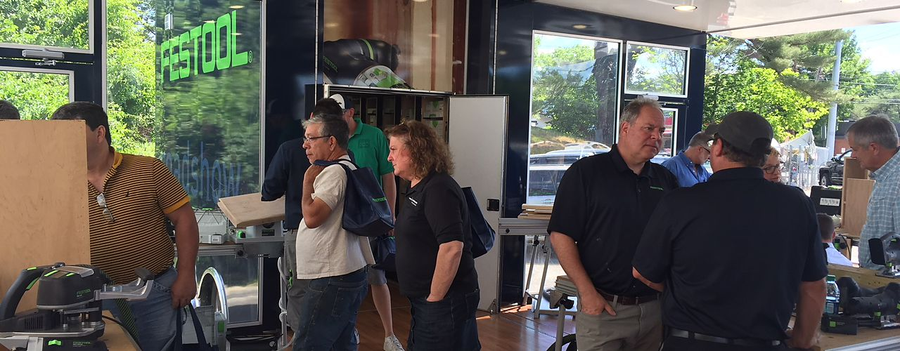 Festool Demonstration Event at National Lumber's store at 15 Needham St, Newton, MA