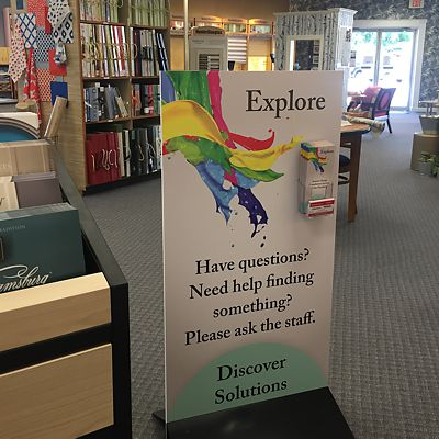 Explore sign in Canton store