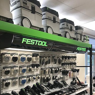 Festool display in Canton store