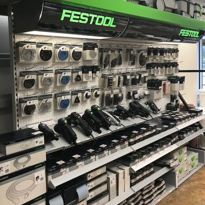 Festool supplies display in Canton store