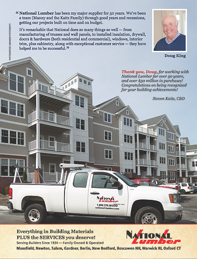 National Lumber, Doug King, full page ad in 2018 Builder Architect magazine