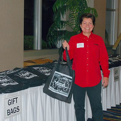 Guests are welcomed to Contractor Appreciation Night with gift bags