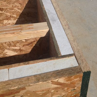 HIGH-Rim insulated rimboard shown on website, next to I-joists with pre-applied adhesive