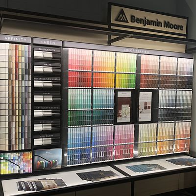 Mansfield, National Lumber Home Finishes, Benjamin Moore color selection area