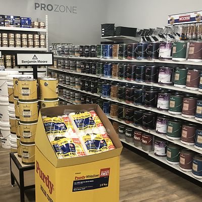 Mansfield, National Lumber Home Finishes, Benjamin Moore Pro Zone
