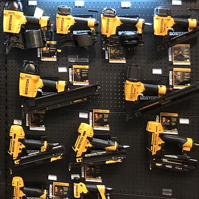 Bostitch display in East Hartford store