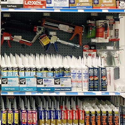 Caulking supplies in East Hartford store