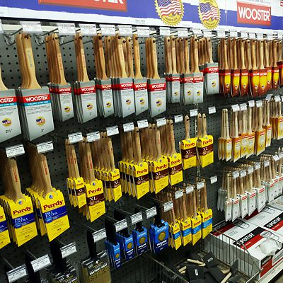 Paint brushes and all the other sundries you need for your project