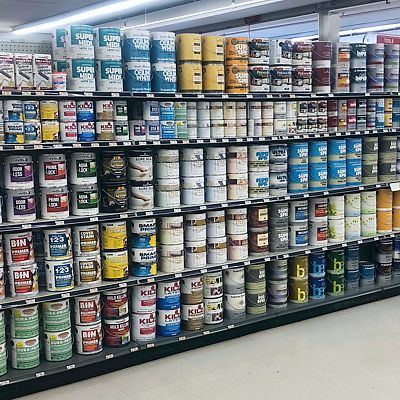 Primers and more aisle in Gardner store