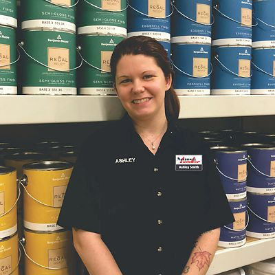 Benjamin Moore Paint Expert, Ashley Smith, Store Manager