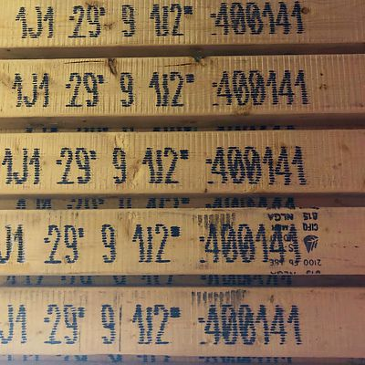 Precision end trimmed I-joists with inkjet labeling