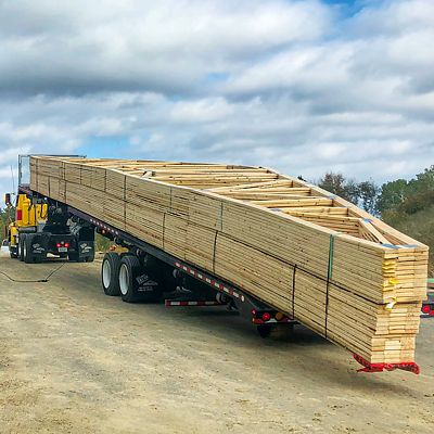 October 2018 delivery by Reliable Truss of roof trusses