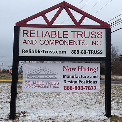 Reliable Truss sign in Branford, CT
