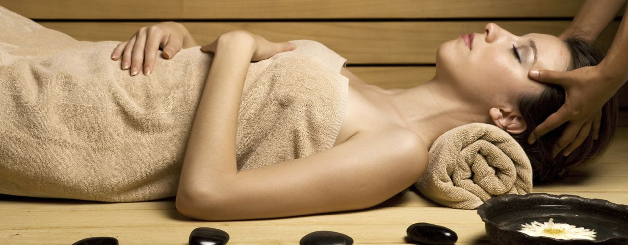 Woman enjoying a luxurious spa treatment